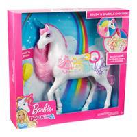 Mattel Barbie Dreamtopia Regenbogen-Königreich Magisches Haarspiel-Einhorn GFH60