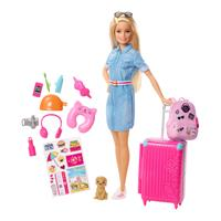 Mattel Barbie Make Believe Reality Reise Puppe Blond mit Zubehör