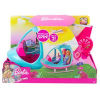 Mattel Barbie Make Believe Reality Reise Puppe Hubschrauber