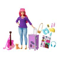 Mattel Barbie Make Believe Reality Reise Puppe Pink mit Zubehör