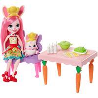 Mattel Enchantimals Puppe & Zubehör Bree Bunny und Twist Küche