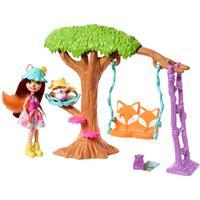 Mattel Enchantimals Puppe & Zubehör Felicity Fox und Flick Spielplatz-Abenteuer
