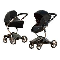 Mima Combi Stroller Xari Frame Aluminium, Seat Unit Black & Color Pack Black