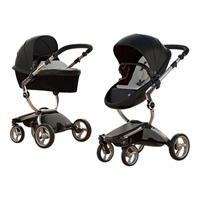 Mima Combi Stroller Xari Frame Aluminium, Seat Unit Black & Color Pack Stone White