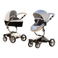Mima Combi Stroller Xari Frame Aluminium, Seat Unit Snow White & Color Pack Black