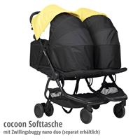 mountain buggy Cocoon Tragetasche mit Zwillingsbuggy nano duo