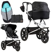 mountain buggy terrain Kinderwagen-Set mit Carrycot plus, Wickeltasche & Fußsack onyx