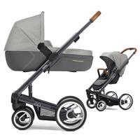 Mutsy Igo Kinderwagen mit Tragewanne Pure Dark Grey / Pure Storm