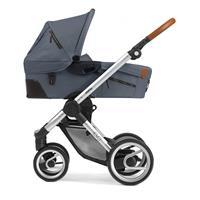 Mit Babywanne ab Geburt | Mutsy Evo Kombikinderwagen | Urban Nomad Silber - Industrial Grey