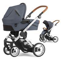 Mutsy Evo Kinderwagen mit Tragewanne Industrial Silber / Industrial Grey