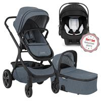 Nuna Erstausstattungs-Bundle Demi grow Kinderwagen Aspen & kostenlose Babyschale Pipa icon Caviar