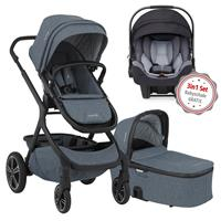 Nuna Erstausstattungs-Bundle Demi grow Kinderwagen Aspen & kostenlose Babyschale Pipa icon Jett