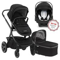 Nuna Erstausstattungs-Bundle Demi grow Kinderwagen Caviar & kostenlose Babyschale Pipa icon Caviar