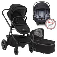 Nuna Erstausstattungs-Bundle Demi grow Kinderwagen Caviar & kostenlose Babyschale Pipa icon Jett