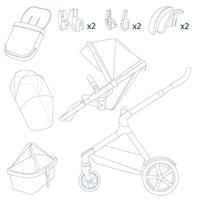 Lieferumfang des Kinderwagen aus dem Erstausstattungs-Paket