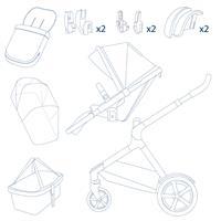 Nuna DEMI grow Kombikinderwagen Aspen