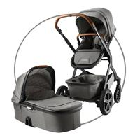 Nuna Demi Grow Geschwisterwagen-Set inkl. Demi Grow Tragewanne Design Oxford