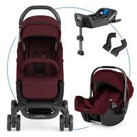 Nuna Pepp luxx Travel-Set mit Babyschale Pipa & Isofix Basis Berry