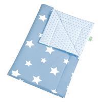 Odenwälder 16024 Jersey-Schmusedecke wattiert 70/100 white stars sky blue