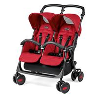 Peg Perego Aria Shopper Twin Buggy Geschwisterwagen 2017 Mod Red