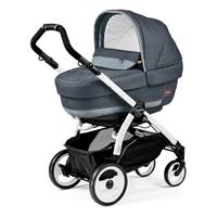 Peg Perego Book 51 Completo Blue Denim Gestell 51 Weiss Navetta