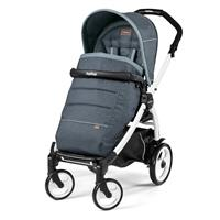 Peg Perego Book 51 weiß Kinderwagen Blue Denim