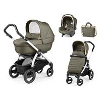 Peg Perego Book 51S weiß Kinderwagen Trio-Set Breeze Kaki