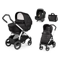 Peg Perego Book 51S weiß Kinderwagen Trio-Set Breeze Noir