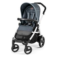 Peg Perego Book 51s Completo Blue Denim Gestell 51s Weiss Ohne Beindecke