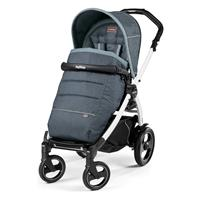 Peg Perego Book 51s Completo Blue Denim Gestell 51s Weiss