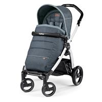 Peg Perego Book S weiß Kinderwagen Blue Denim