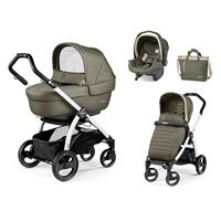 Peg Perego Book S weiß Kinderwagen Trio-Set Breeze Kaki