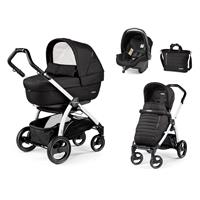 Peg Perego Book S weiß Kinderwagen Trio-Set Breeze Noir