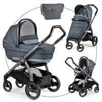 Peg Perego Book S jet Kinderwagen Trio-Set Blue Denim
