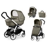 Peg Perego Book 51 weiß Kinderwagen Trio-Set Breeze Khaki