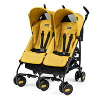 Peg Perego Pliko Mini Twin Buggy Geschwisterwagen 2017 Mod Yellow