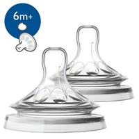 Philips AVENT SCF046/27 Schnuller Natural Sauger 2er Pack