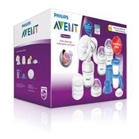 Philips Avent Starter-Set Stillen - Milchpumpe, 2x125ml Flasche, Aufbewahrungsbecher & Stilleinlagen