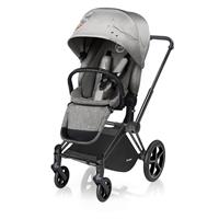 Cybex Kinderwagen PRIAM Gestell Schwarz / Radset Light inkl. LUX Sitzeinhang Koi | Mid Grey
