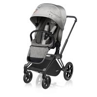 Cybex Fashion Edition Koi | Priam Kinderwagen Matt Black Trekking Räder & Lux Sitzeinheit