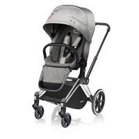 Cybex Kinderwagen PRIAM Gestell Chrome / Radset Light inkl. LUX Sitzeinhang Koi | Mid Grey