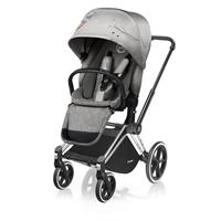 Cybex Pushchair PRIAM Frame Chrome / Wheel-Set Trekking incl. LUX Seat Unit Koi | Mid Grey