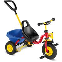 Puky CAT 1 L Tricycle Carry-Touring-Dumper Air Red (Yellow Pushbar)