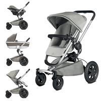 Quinny Buzz Xtra4 Kinderwagen-Set mit Babyschale Grey Gravel