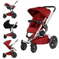 Quinny Buzz Xtra 4 Kombikinderwagen mit Pebble Babyschale Red Rumour