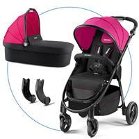 Recaro Citylife Kombikinderwagen mit Buggy und Babywanne Pink