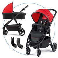 Recaro Citylife with Carrycot Ruby