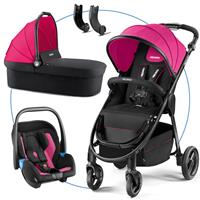 Recaro Citylife Kombikinderwagen mit Babywanne und Babyschale Privia Pink