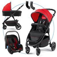 Recaro Citylife Kombikinderwagen mit Babywanne und Babyschale Privia Ruby