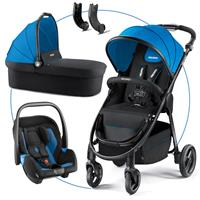 Recaro Citylife Kombikinderwagen mit Babywanne und Babyschale Privia Saphir